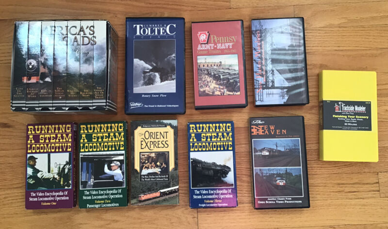 Lot of Railroad VHS Tapes – 16 Total