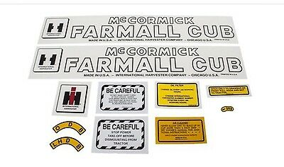 Decal International Harvester Cub Tractor