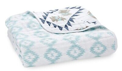 "Aden & Anais Classic Dream Cotton Muslin 47"" x 47"" Baby Blanket Southwest"