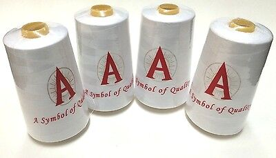4 NEW Black or White Serger Sewing Machine Thread Cones