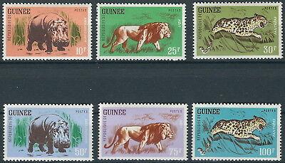 GUINEA FREIMARKEN TIERE SATZ POSTFRISCH 1962 MI 128 133