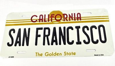 USA Auto Nummernschild License Plate Deko Blechschild California San Francisco
