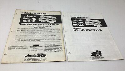 Jake Brake 400 44 30 25 Cummins Nt 240 Engine Service Parts Installation Manual