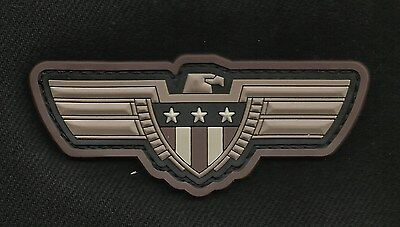 Eagle with Shield 3D PVC HOOK Tactical Badge Morale Military Patch - Swat