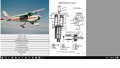 CESSNA 152 SERVICE MAINTENANCE MANUAL W A/Ds  N ENGINE MANUALS