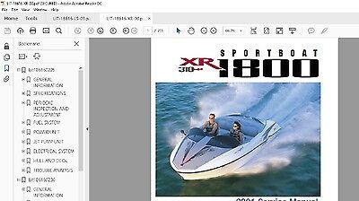 Yamaha Jet Boat service manual XR1800 2000 2001 Service Manual Library XRT1200 2000 Yamaha Jet Boat
