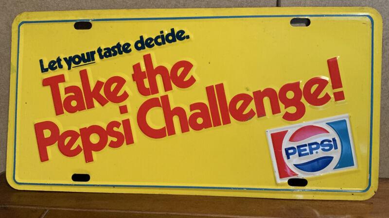Vintage Pepsi Cola License Plate