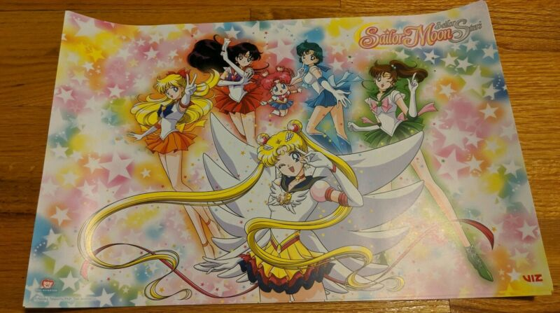 SAILOR MOON Sailor Stars POSTER Viz Media NYCC Comic Con 2019 EXCLUSIVE 11x7 NEW