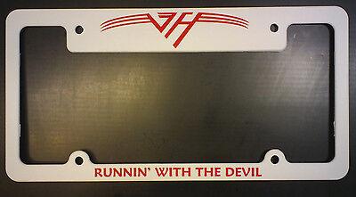 VAN HALEN license plate frame - RUNNING WITH THE DEVIL -NICE ITEM