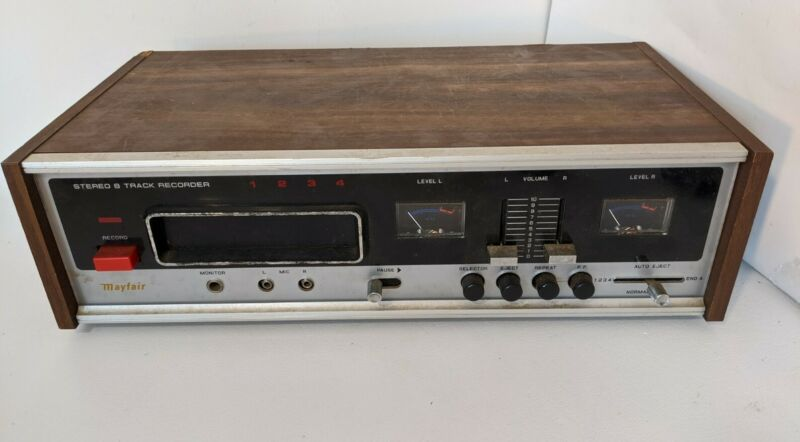 Mayfair Stereo 8 Track Recorder 2084 Working