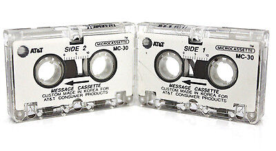 2x  MC-30 Microcassette Tape Incoming Message Cassette Answering Machine