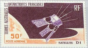 TAAF-FSAT-1966-Maury-Air-12-35-C11-French-Satellite-D1-Launch-Space-Weltraum-MNH