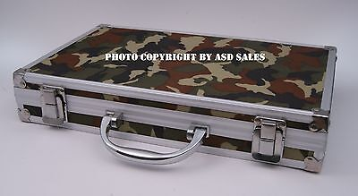 Deluxe Camo Aluminum Case Universal Gun Cleaning Kit W/BRASS Rods-Ships from USA