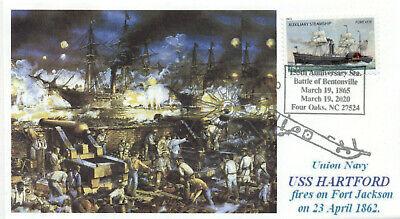 Uss Hartford Unión Navy Guerra Civil Barcos Batalla De New Orleans Color...