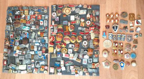 Lot of 280 Russian Soviet USSR vintage pin badges