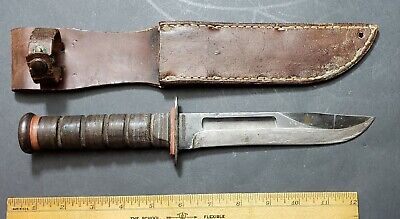 Early Red Spacer Robeson Shuredge Mark 2 USMC Fighting Knife Blued Blade