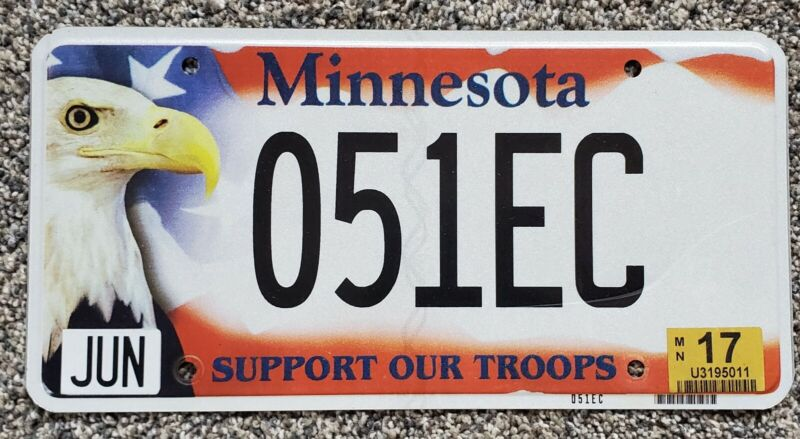 2017 Minnesota License Plate Support Our Troops