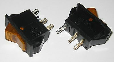 2 X Swann Industries Illuminated Rocker Switch - Spst - 125v 15a - Lighted Amber