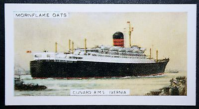 RMS IVERNIA  Cunard Liner   Illustrated Colour Card # CAT B