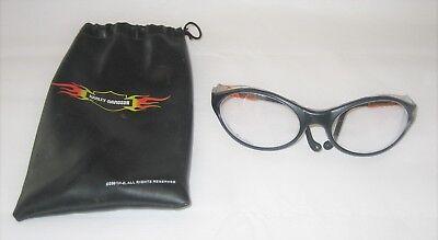 Harley-Davidson® Clear Lens Riding Glasses Goggles - Adjustable Temples - 2001