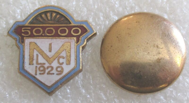 Vintage Metropolitan Life Insurance Company 1929 Service Award Lapel Pin $50,000