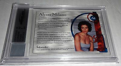 Charmed Autograph The Power of 3 ALYSSA MILANO Phoebe Halliwell JSA 9 MINT 2003 3