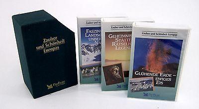 VHS Kassetten Zauber & Schönheit Europas -3 xVHS Kasseten im SET je  180 min