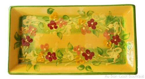"""SOULEO, TERRE è PROVENCE, FRENCH PROVENCE, SMALL RECTANGULAR PLATTER, 8"""" X 4.5"""""""