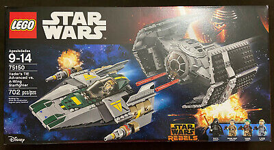 LEGO Star Wars Vader's TIE Advanced vs. A-Wing Starfighter 75150 Retired NEW