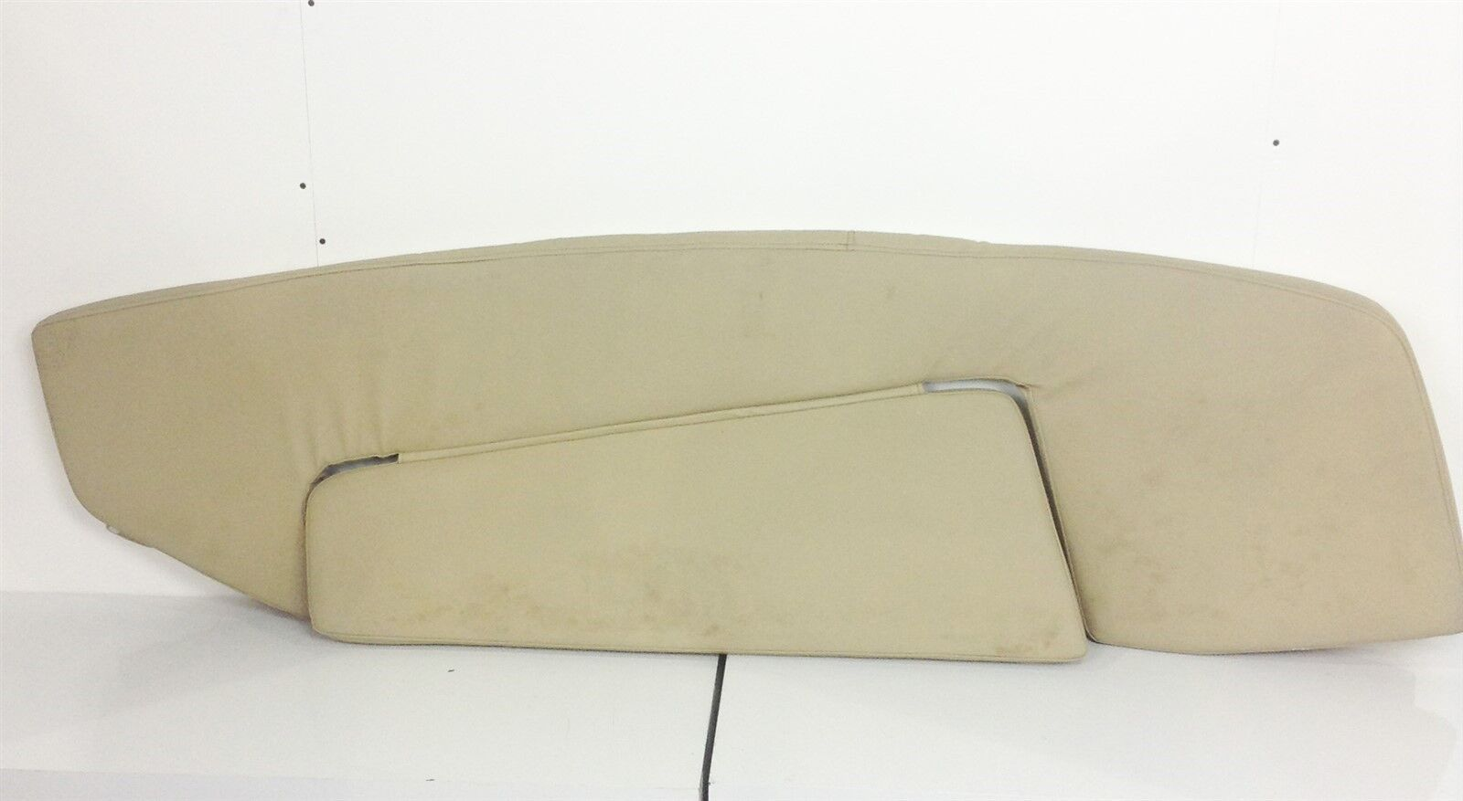 Tidewater 320 CC Starboard Side Bow Cushion Tan W/ Dents And A Small Tear Boat