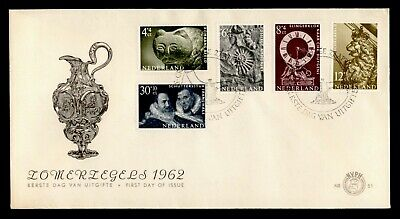 DR WHO 1962 NETHERLANDS FDC INTL CONGRESS MUSEUM EXPERTS SEMIPOSTALS C242612