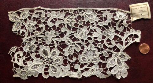 Large C. 1900 Belgian Point de Venise needle lace sample with label