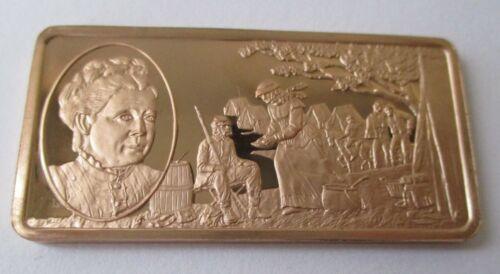 JULIA WARD HOWE 1819-1910 GREATEST AMERICAN WOMEN VINTAGE BRONZE ART BAR 41/100