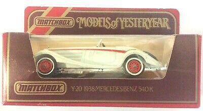 MATCHBOX MODELS of YESTERYEAR Y-20 1938 MERCEDES BENZ 540K NR MINT BOX GOOD