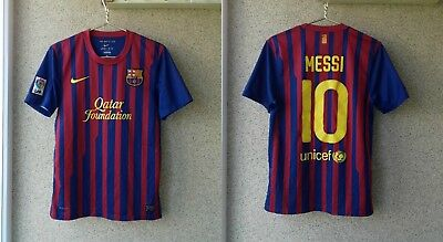 73f38bfaa53 Barcelona 2011/2012 Home football shirt Nike Jersey Soccer Camiseta # Messi  10