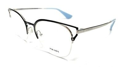 Prada VPR 64U KI8-1O1 Black/Silver Women's Authentic Eyeglasses Frame 51-20
