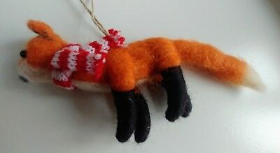 Fabulous Fox (Fabulous FOX felt wool CHRISTMAS TREE DECORATION NEW woodland autumnal)