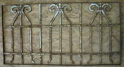 Rosengitter Alte Fenstergitter, Original, Gründerzeit Jugendstil, Schmiedeeisen