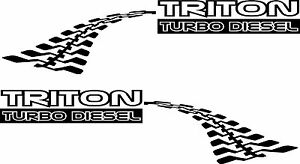 mitsubishi TRITON 4WD ML MN MK TURBO DIESEL DECALS 15 colors
