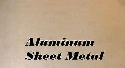 3 Pieces 4 X 14 Aluminum Sheet Metal .090 Thick 11 Gauge