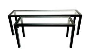 Custom Metal Tables with Glass Top