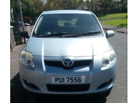 2007 toyota auris full mot in immaculate condition inside and out , not fiesta or clio