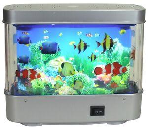 Aquarium Lamp Motion Fish Night Light #1503