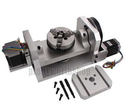 Cnc Router Rotary Table Rotational A C Axis 4th 5th Self-centering 100mm Chuck
