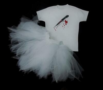 HALLOWEEN CHUCKY BRIDE TUTU TOP ADULT CHILD FANCY DRESS PLAY COSTUME FRIGHT (Top Adult Kostüm)