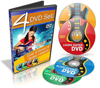 Learn How to Play Guitar - Teach Yourself Guitar - 4 DVDs of Video Lessons on Rummage
