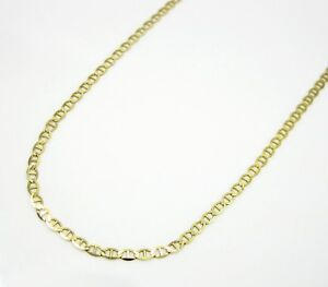 10K REAL Solid Yellow Gold Mariner Link Necklace Chain 16
