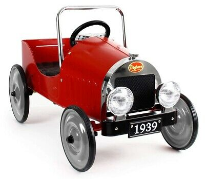 Baghera 1938 Classic Kids Pedal Car Ride On Red 3+Years NEW