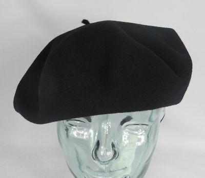 Pebeo Beret Barret 11 Extra Wide French Basque Black Basque New - Barret Hat