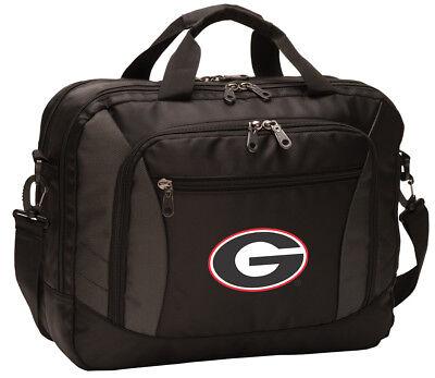 Georgia Purse (Georgia Bulldogs Laptop Bag UGA Computer Bags Messenger LOADED With POCKETS! )
